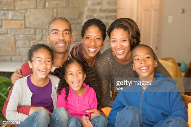 Portrait of smiling multi-ethnic family