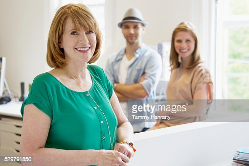 Portrait of smiling office workers : Stock Photo