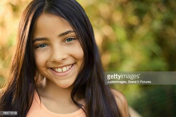 Portrait of smiling pre-teen girl