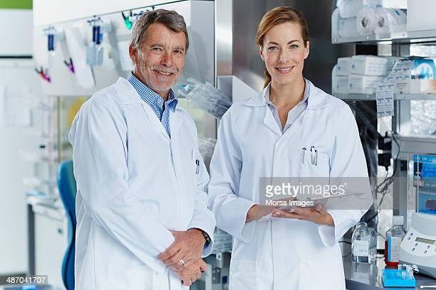 Portrait of smiling scientists