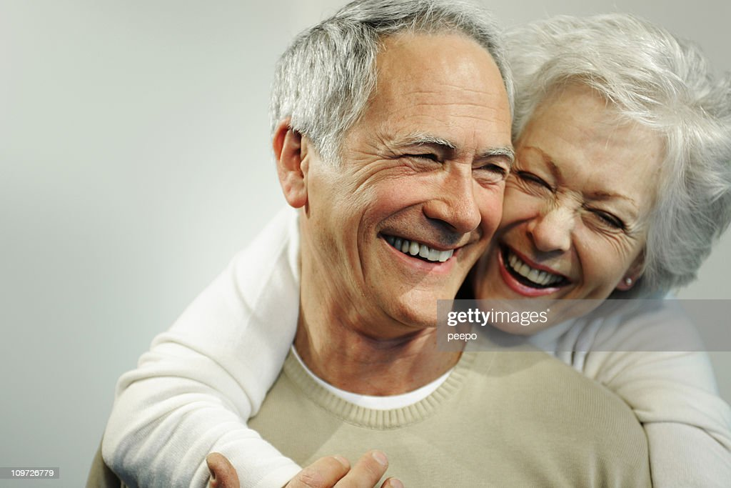 Portrait of Smiling Senior Couple : Stock Photo