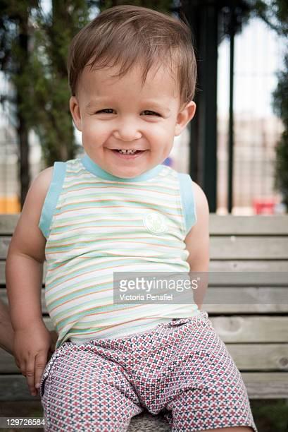 Portrait of smiling toddler