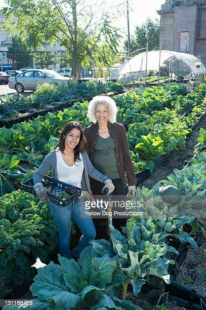 Portrait of Smiling Urban Community Garden Workers