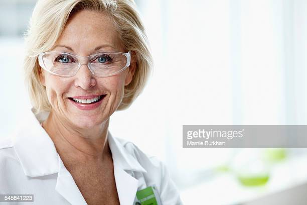 Portrait of smiling woman in laboratory