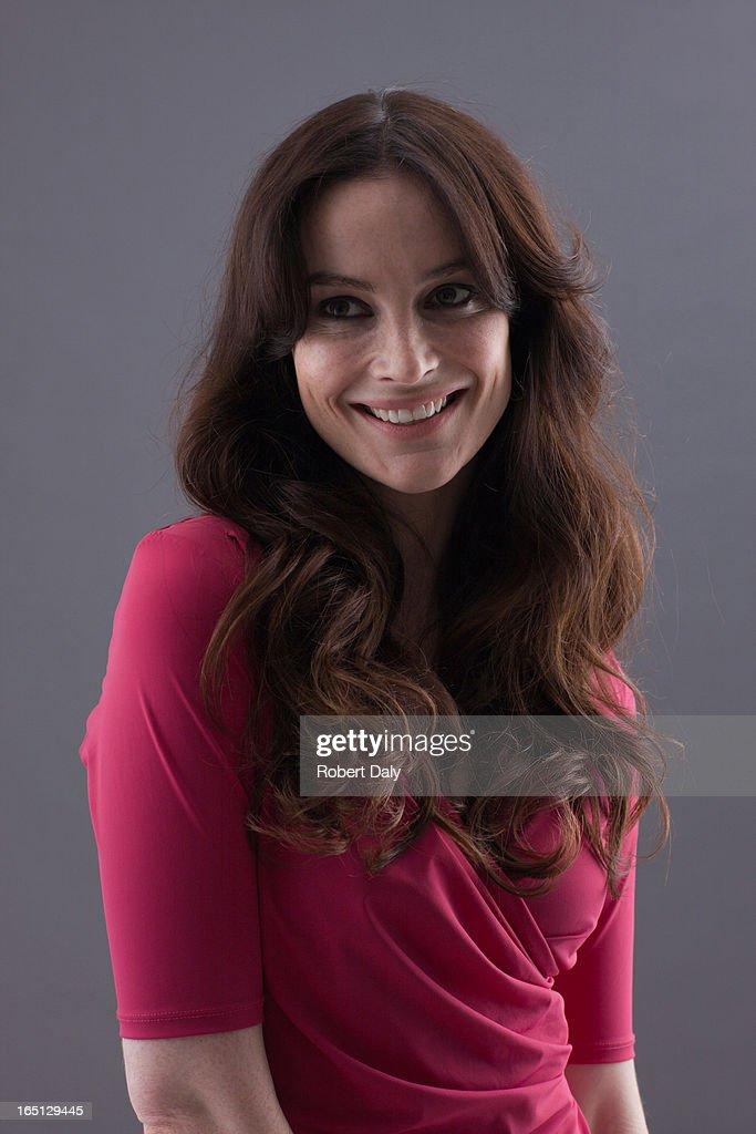 Portrait of smiling woman : Stock Photo