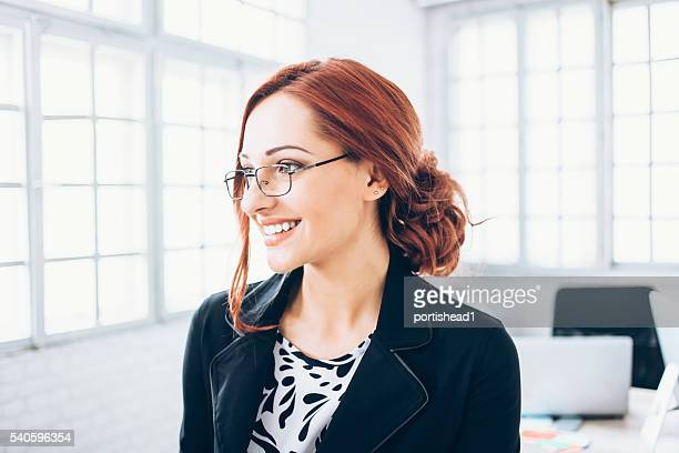 Portrait of smiling young businesswoman