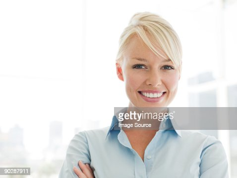 Portrait of smiling young businesswoman : Stock Photo