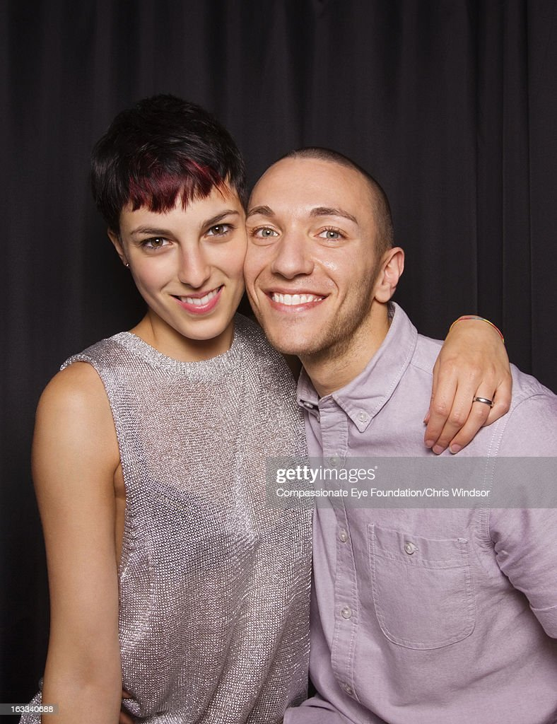 Portrait of smiling young couple : Stock Photo