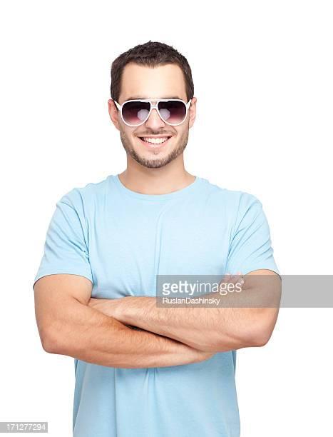 Portrait de souriant jeune homme.
