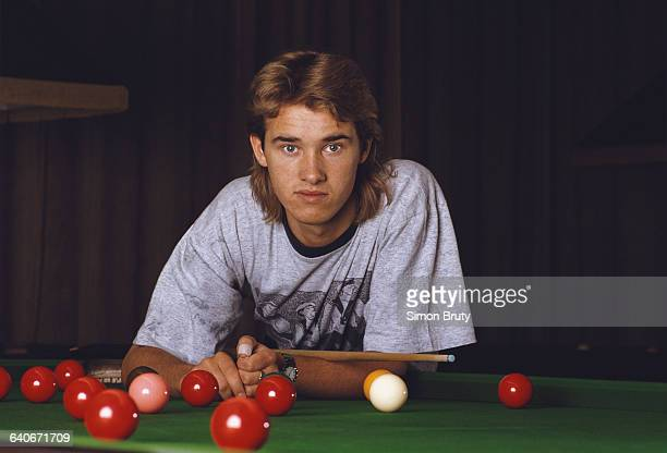 Portrait of snooker world champion Stephen Hendry of Great Britain on 1 May 1990 in London United Kingdom