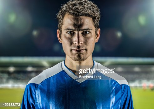 Portrait of soccer player in stadium