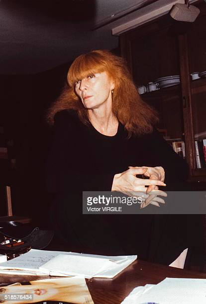 Portrait of Sonia Rykiel 1981 in Paris France
