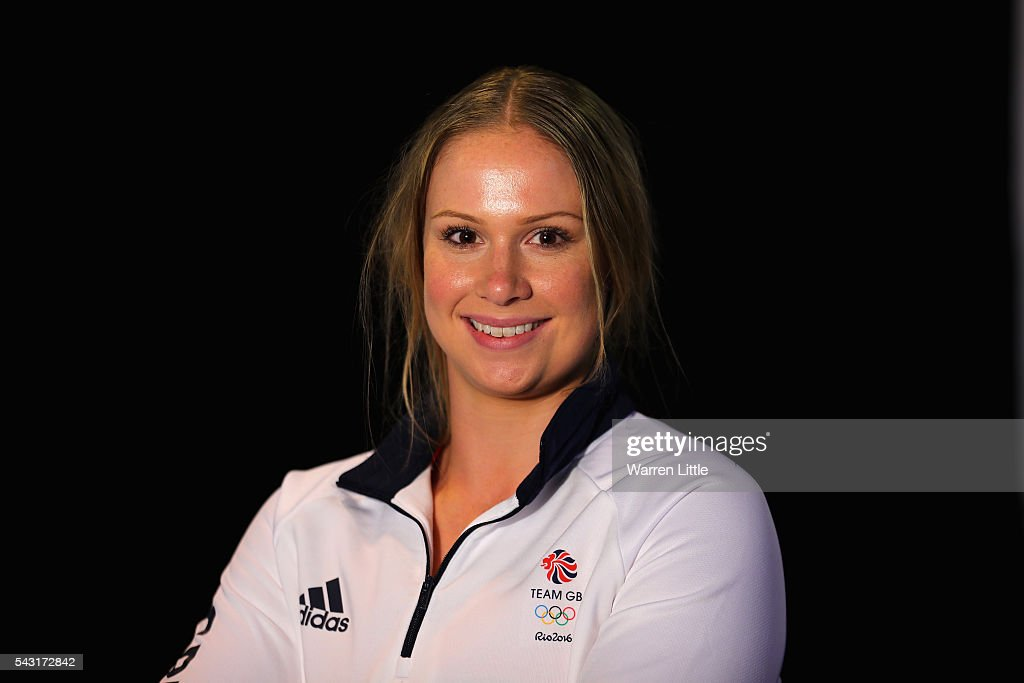 A portrait of <a gi-track='captionPersonalityLinkClicked' href=/galleries/search?phrase=Sophie+Hitchon&family=editorial&specificpeople=5968715 ng-click='$event.stopPropagation()'>Sophie Hitchon</a> a member of the Great Britain Olympic team during the Team GB Kitting Out ahead of Rio 2016 Olympic Games on June 26, 2016 in Birmingham, England.