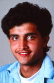 A portrait of Sourav Ganguly of India