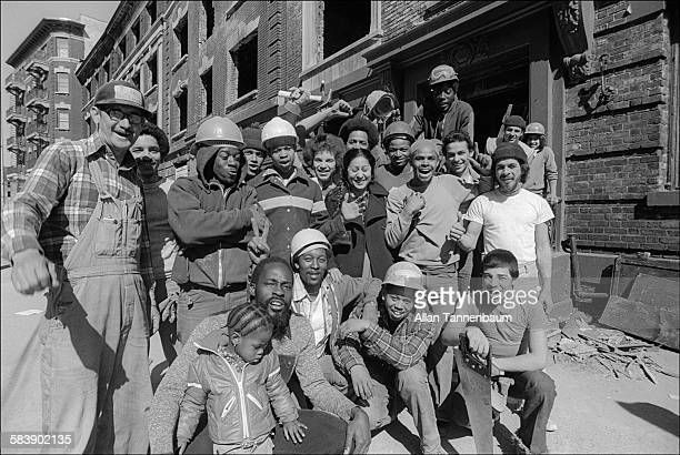 Portrait of South Bronx community action group Banana Kelly New York New York March 23 1979