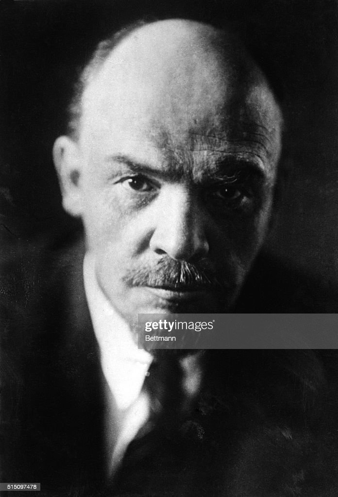 Portrait of Soviet leader Vladimir Ilich Lenin (1870-1924), headshot. Undated photo, filed 1931.