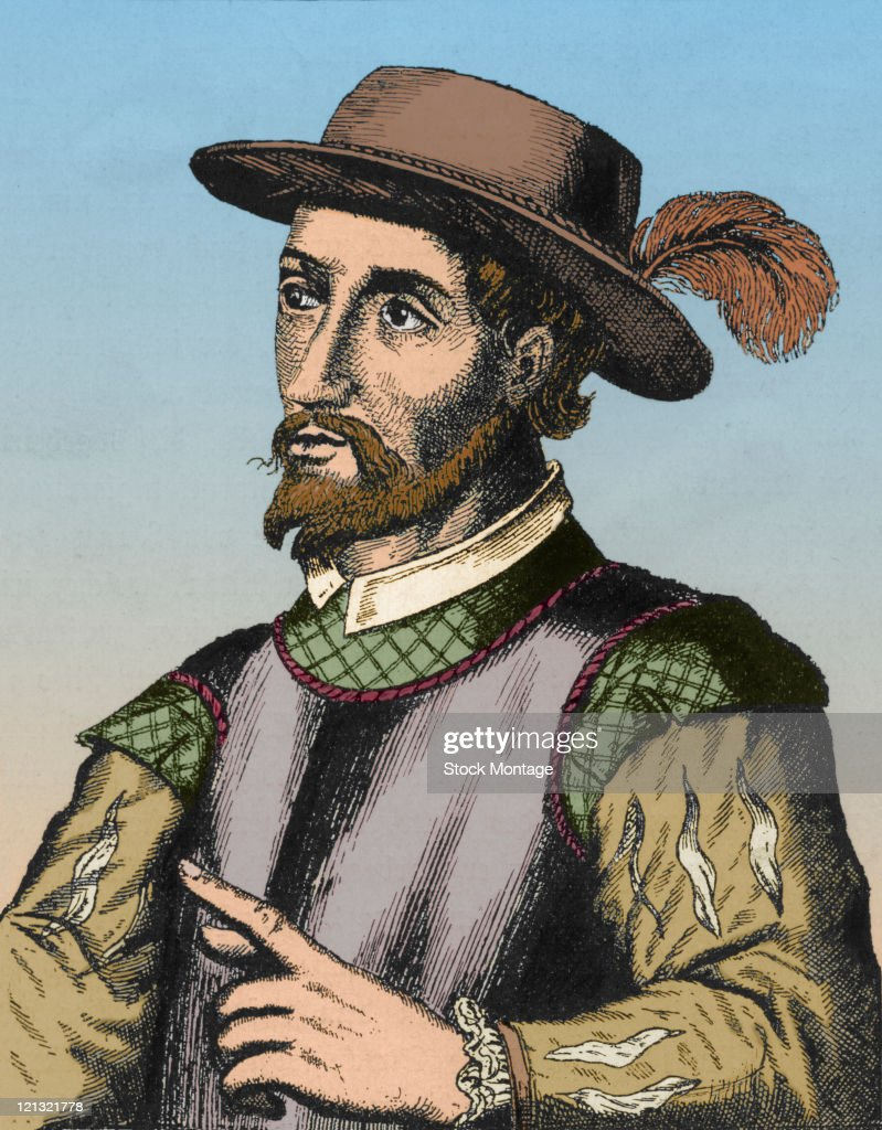 Portrait of Spanish explorer Juan Ponce de Leon
