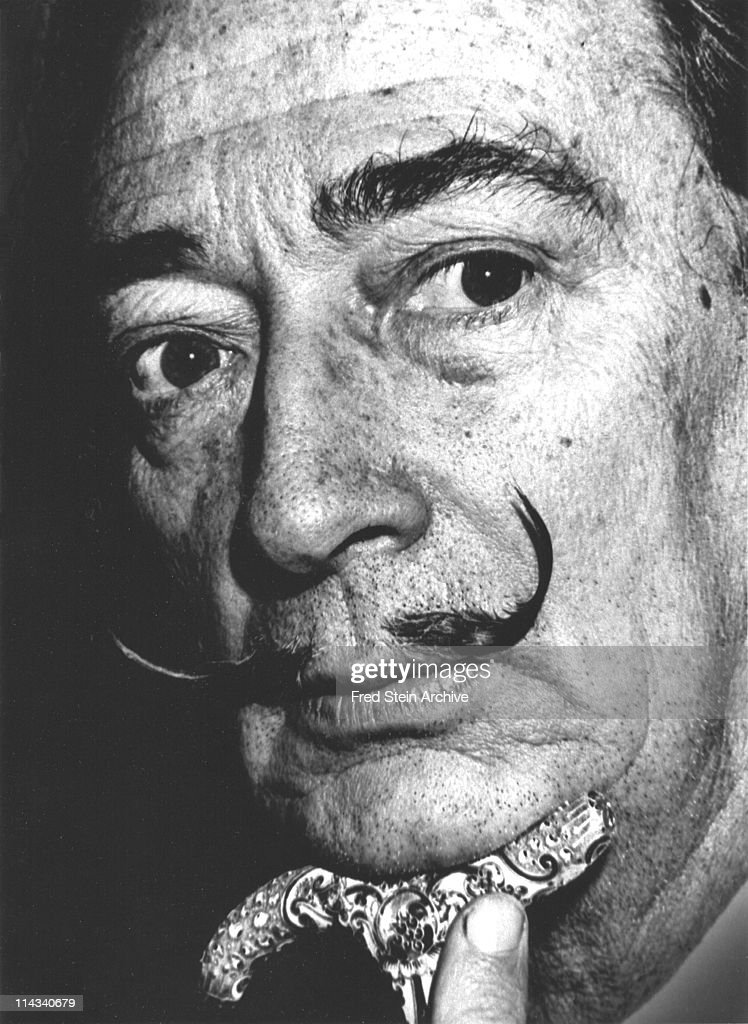 Portrait of Spanish surrealist artist Salvador Dali (1904 - 1989), 1963.