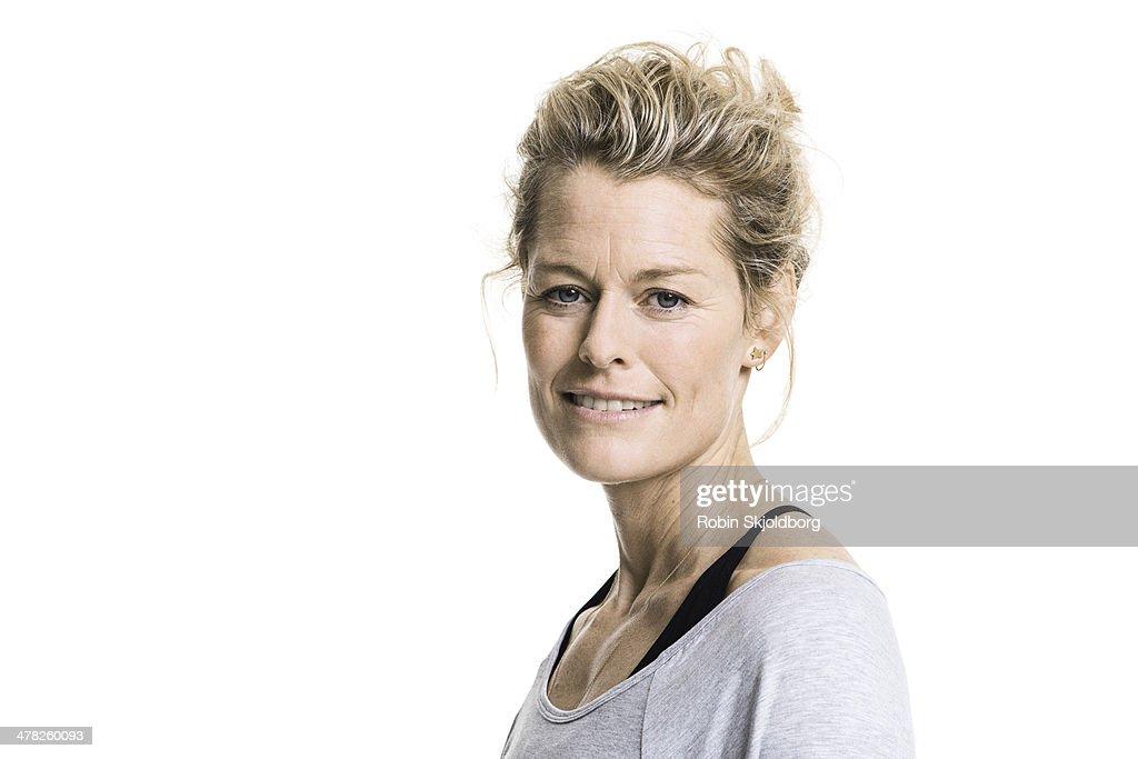 Portrait of sporty woman smiling