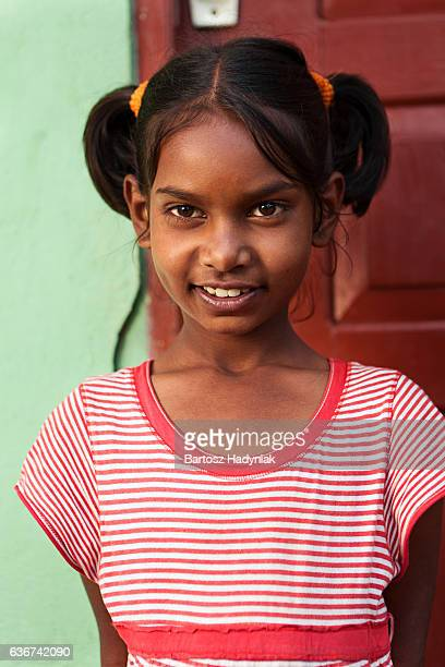 Portrait of Sri Lankan young girl, Ceylon