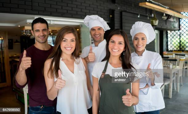 Portrait of staff working at a restaurant
