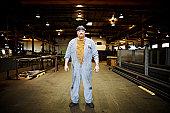 Portrait of steel worker