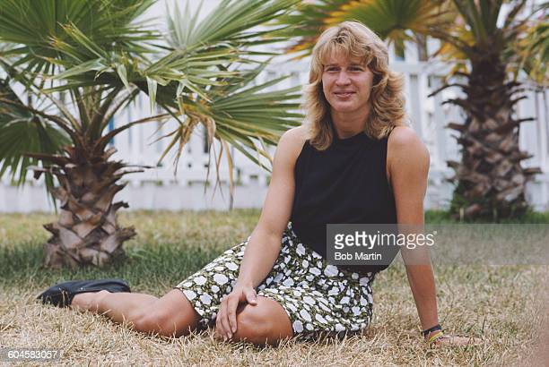 Portrait of Steffi Graf of Germany after winning her Women's Singles Final match at the ATP Lipton Tennis Championship on 30 March 1988 at the Tennis...