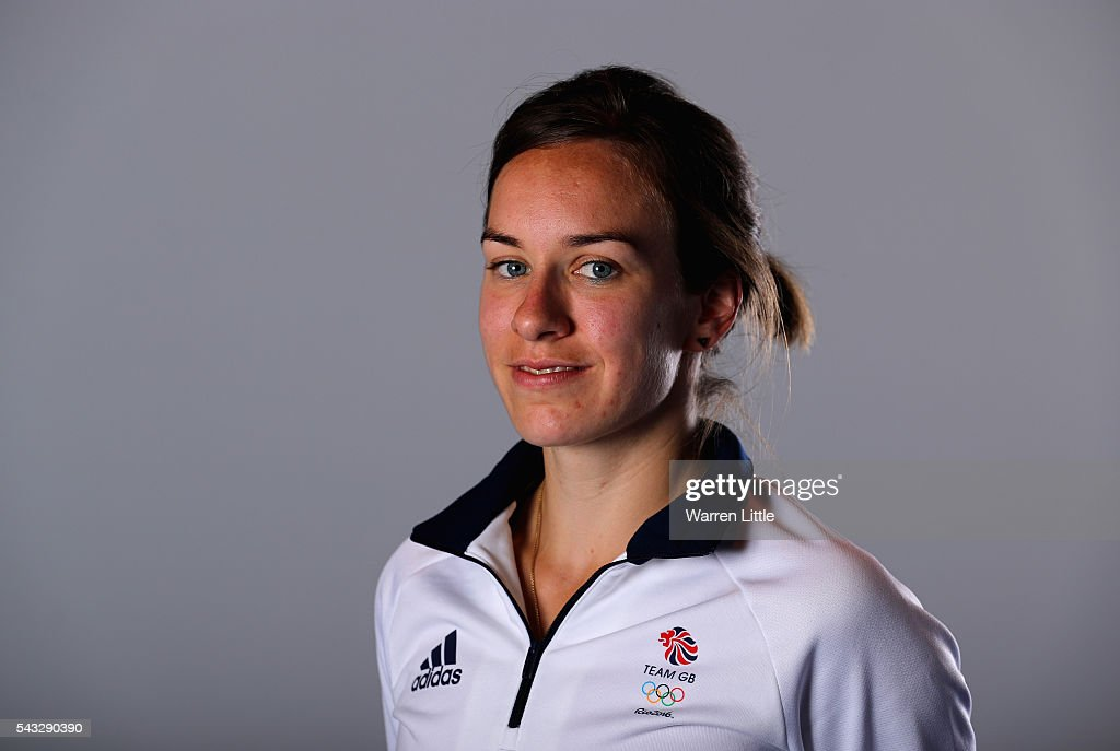 A portrait of <a gi-track='captionPersonalityLinkClicked' href=/galleries/search?phrase=Stephanie+Twell&family=editorial&specificpeople=2241313 ng-click='$event.stopPropagation()'>Stephanie Twell</a> a member of the Great Britain Olympic team during the Team GB Kitting Out ahead of Rio 2016 Olympic Games on June 27, 2016 in Birmingham, England.