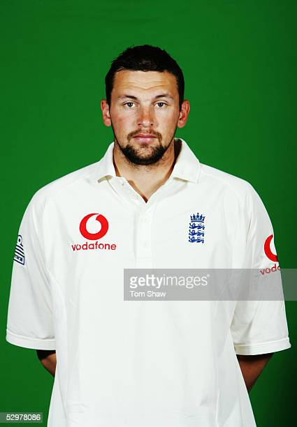Portrait of Stephen Harmison of England taken during a photocall at the Stapleford Park Hotel on May 20 2005 in Melton Mowbray Leicestershire England