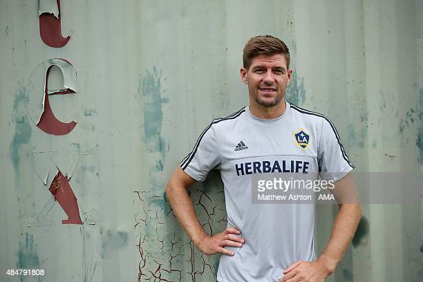 A portrait of Steven Gerrard after the LA Galaxy training session on August 21 2015 in Los Angeles California