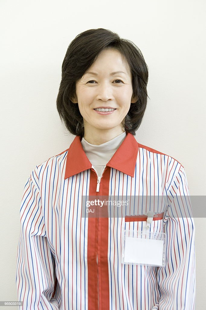 Portrait of store clerk : Stock Photo