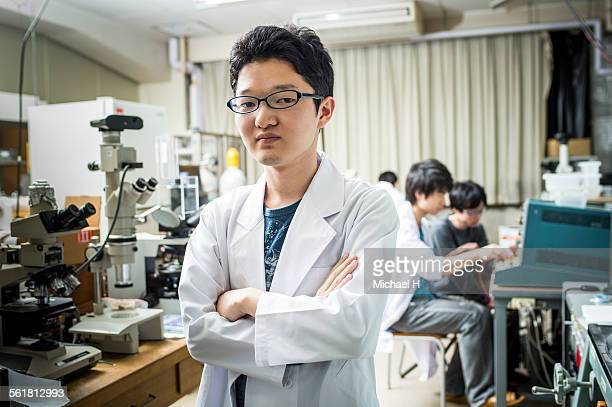 Portrait of student in science laboratory