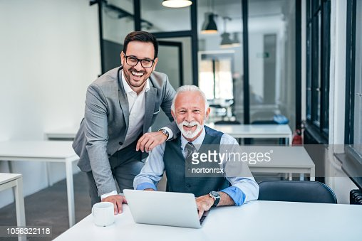 Portrait of successful business family at work. : Stock Photo