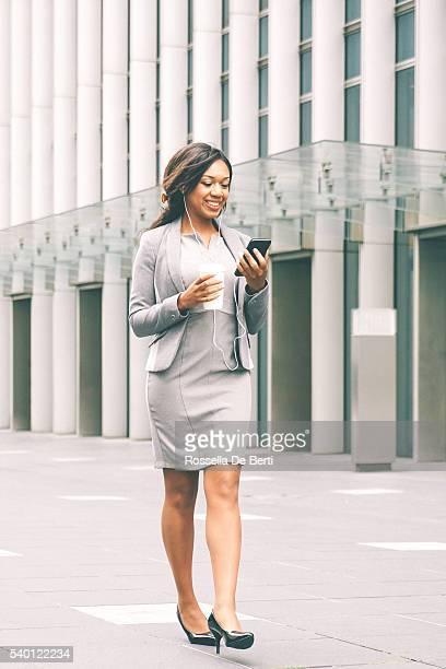 Portrait Of Successful Businesswoman During Coffee Break