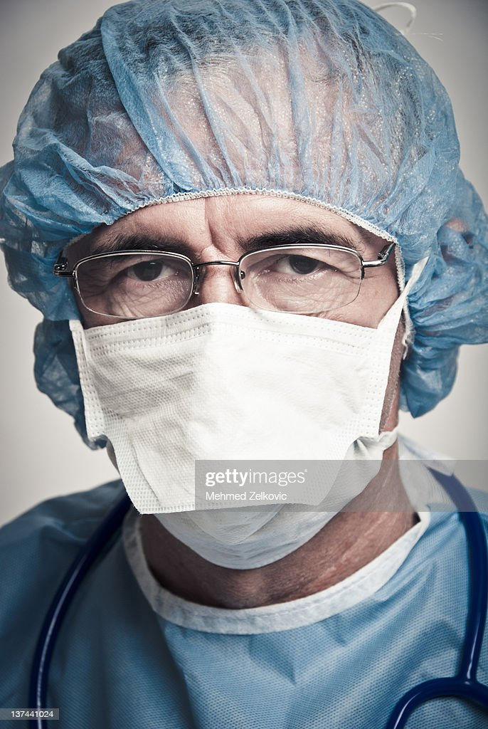 Portrait of surgeon : Stock Photo