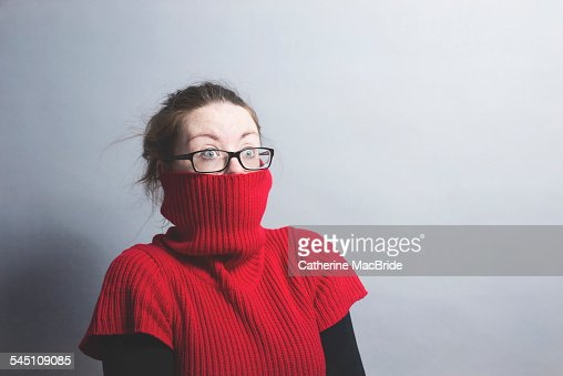 A portrait of surprised young women : Stock Photo