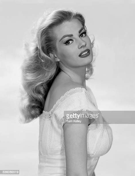 Portrait of Swedishborn Italian actress and model Anita Ekberg 1956
