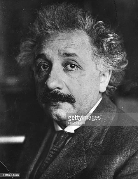 Portrait of Swiss theoretical physicist of German origin Albert Einstein early to mid 20th century