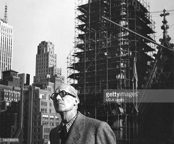 Portrait of Swissborn French architect and designer Le Corbusier New York New York 1930s