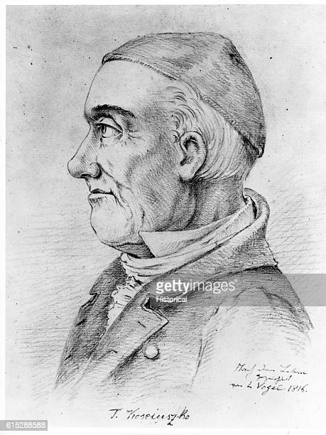 Portrait of Tadeusz Kosciuszko Polish citizen who helped construct fortifications in the American Revolutionary War