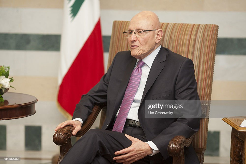Portrait of Tammam Saeb Salam, Prime Minister of Lebanon on May 30, 2014, in Beirut, Lebanon.