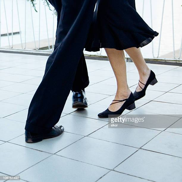 Portrait of Tango Dancing Couple's Feet