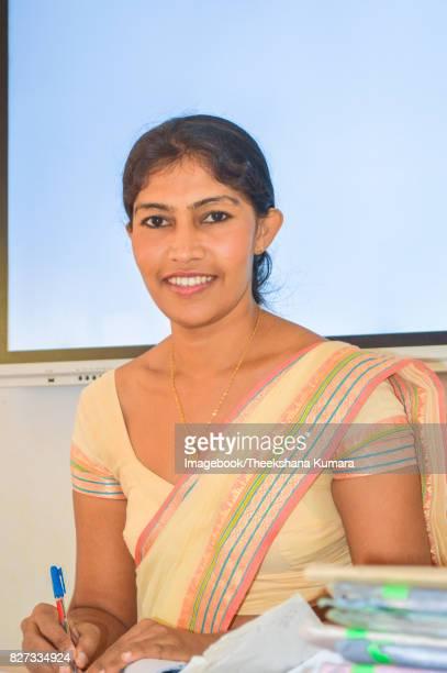 Portrait of teacher in Smart classroom