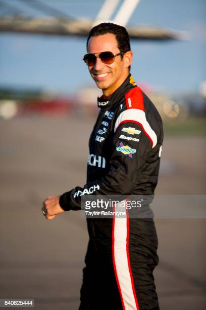 Portrait of Team Penske driver Helio Castroneves is photographed for Sports Illustrated on August 19 2017 at Pocono Raceway Verizon IndyCar Series at...