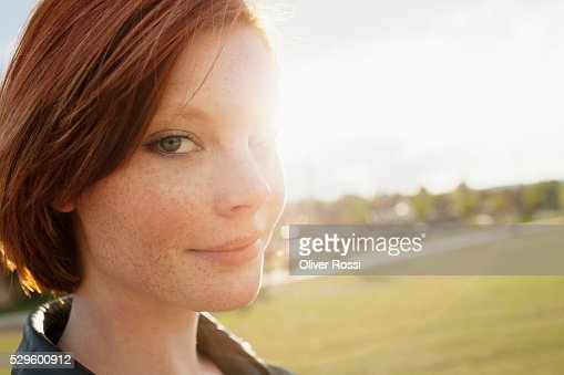 Portrait of teen (16-17) girl : Stock Photo