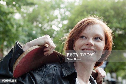 Portrait of teen (16-17) girl : Stock-Foto