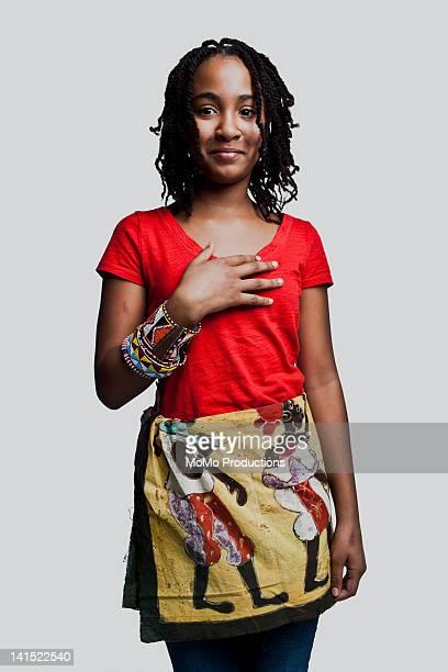 Portrait of teenage girl - African-American