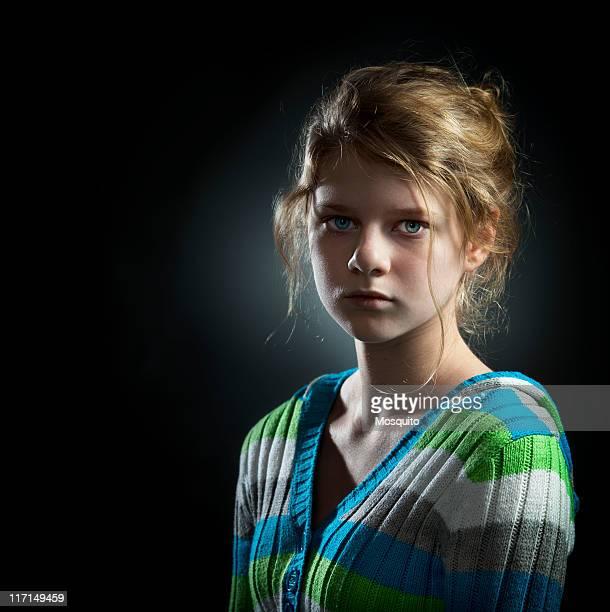 Retrato de niña adolescente