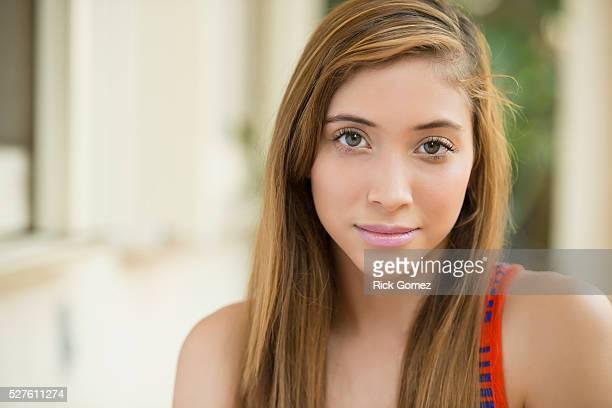 Portrait of teenage girl (16-17)