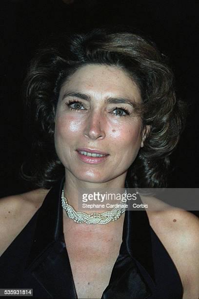 Portrait of television presenter MarieAnge Nardi at the 'Grand Prix d'Amerique' gala